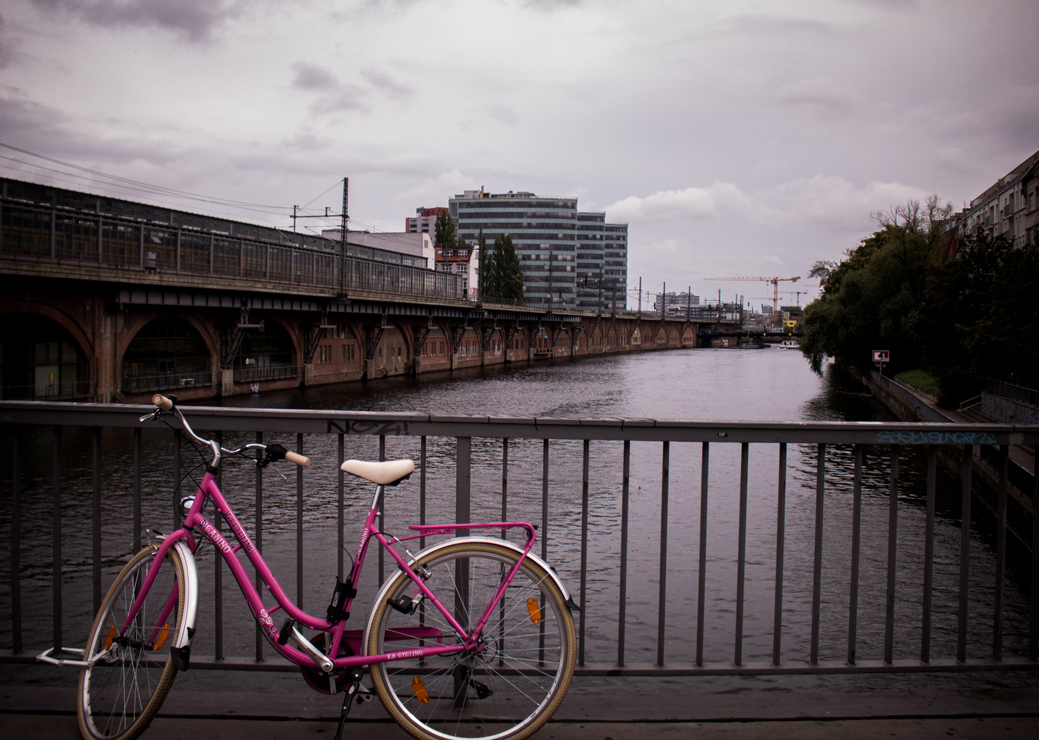 Pink Bicycle. Berlin, Germany.